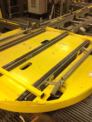 Single Load Rotating Conveyor Table