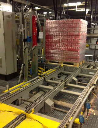 3-strand Pallet Chain Conveyor with Right Angle Transfer