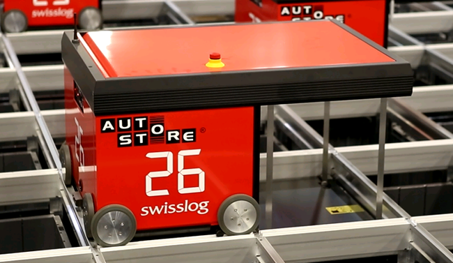 Autostore Robot with Vertical Hoist