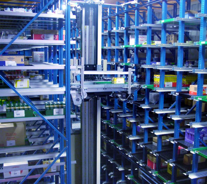 WITRON system - Miniload Storing Trays - Photo Courtesy of WITRON