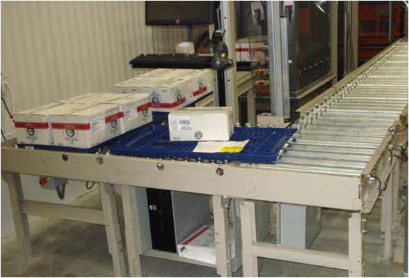 Product Induction Station - Photo Courtesy of HK Systems