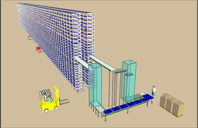Freezer Module Enables Operator to Work on the Dock - Image Courtesy of HK Systems