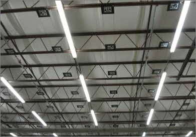 Sky-Trax Optical Markers Mounted in the Ceiling of the Warehouse (photo courtesy of Sky-Trax)