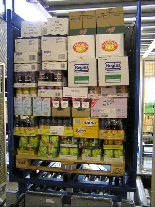 Mixed SKU Pallet in Store-Specific Sequence - Photo Courtesy of Witron